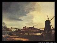 Van der Neer Aert Paesaggio con mulino a vento