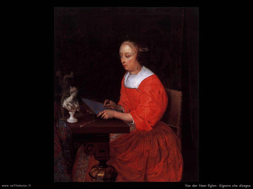 Signora alla toeletta Van der Neer Eglon