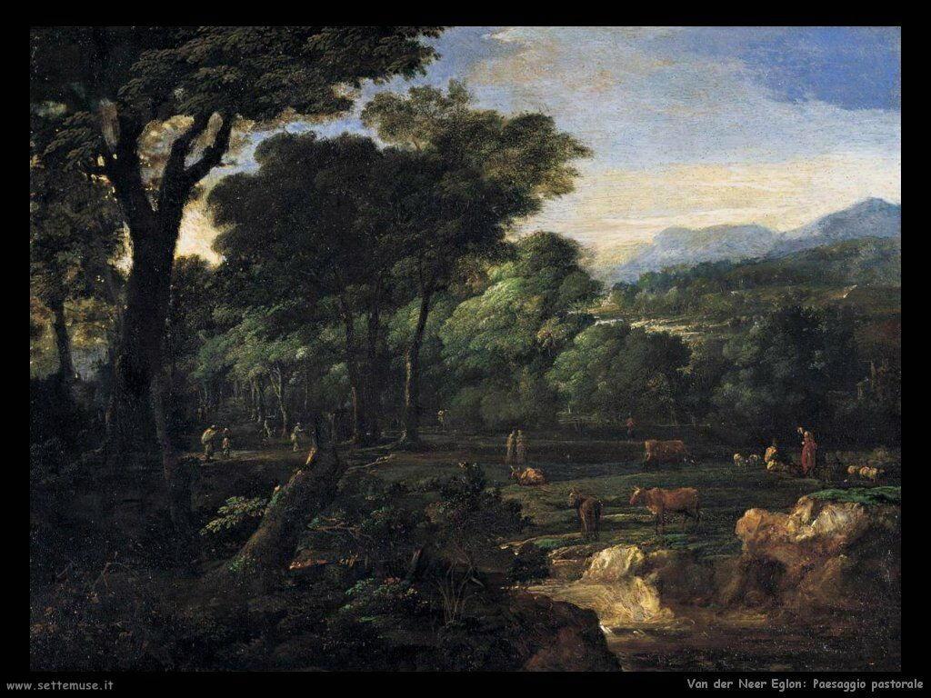 Panorama pastorale Van der Neer Eglon