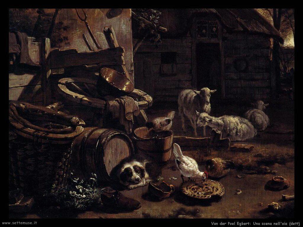 Van der Poel Egbert Paesaggio notturno con fiume