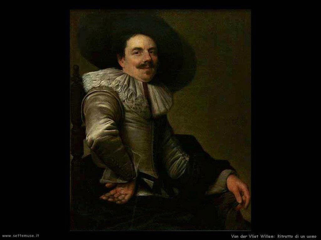 Van der Vliet Willem Ritratto di uomo