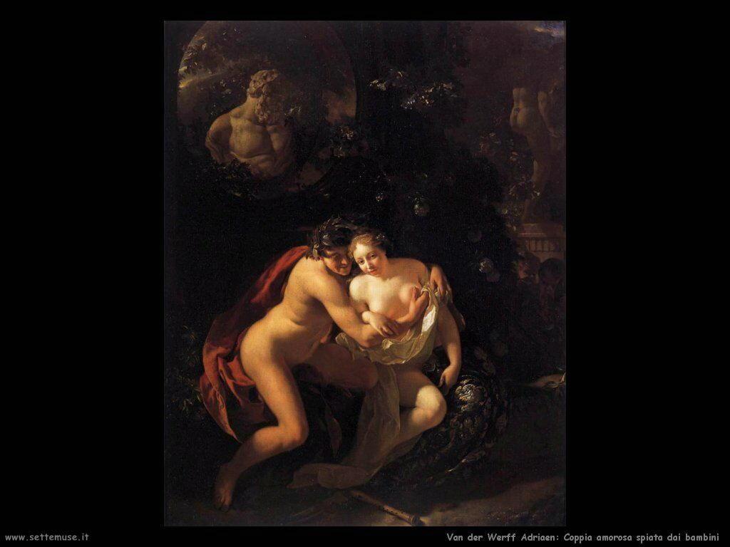 Innamorati spiati dai bambini Van Der Werff Adriaen