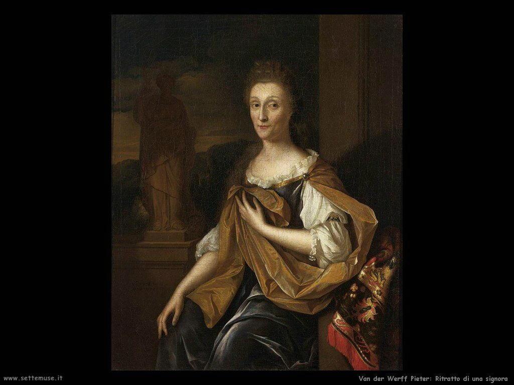 Van der Werff Pieter Ritratto di donna