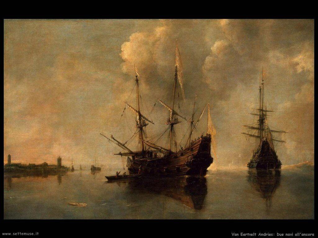 Van Eertvelt Andries Due navi all'ancora