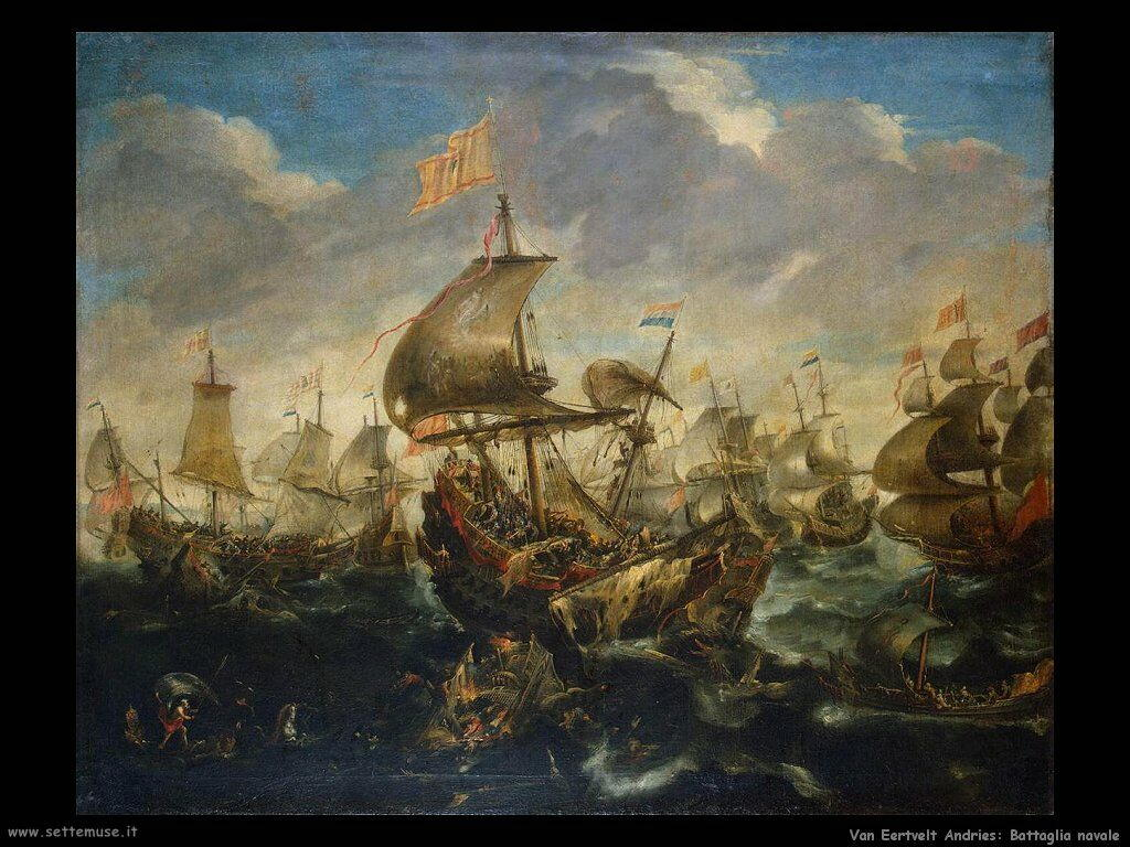 Van Eertvelt Andries Battaglia navale