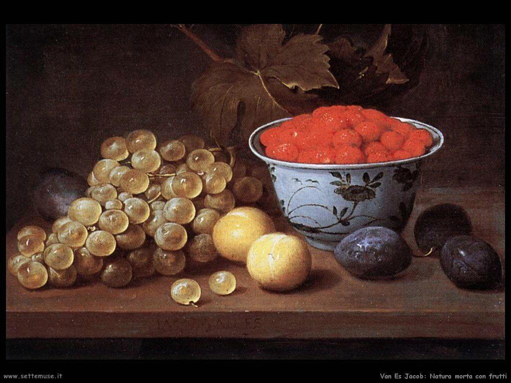 Van Es Jacob Natura morta con frutta