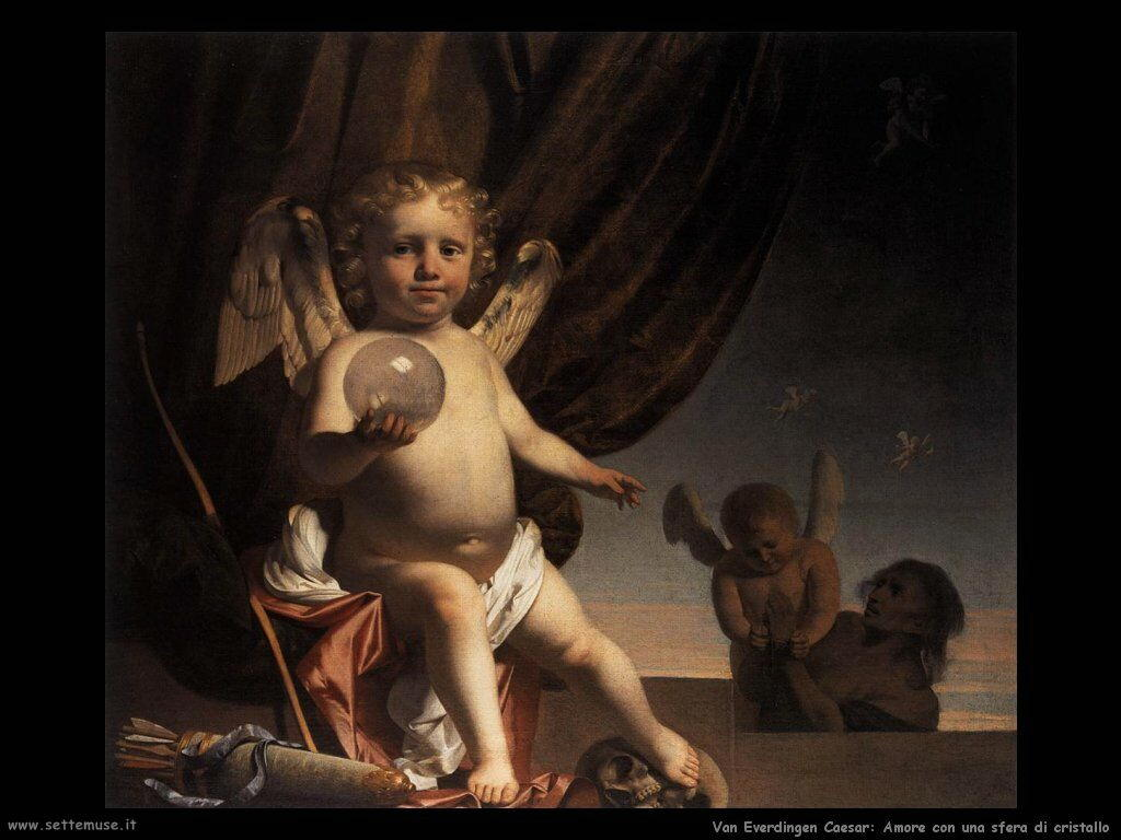 Amore con un globo di vetro Van Everdingen Caesar