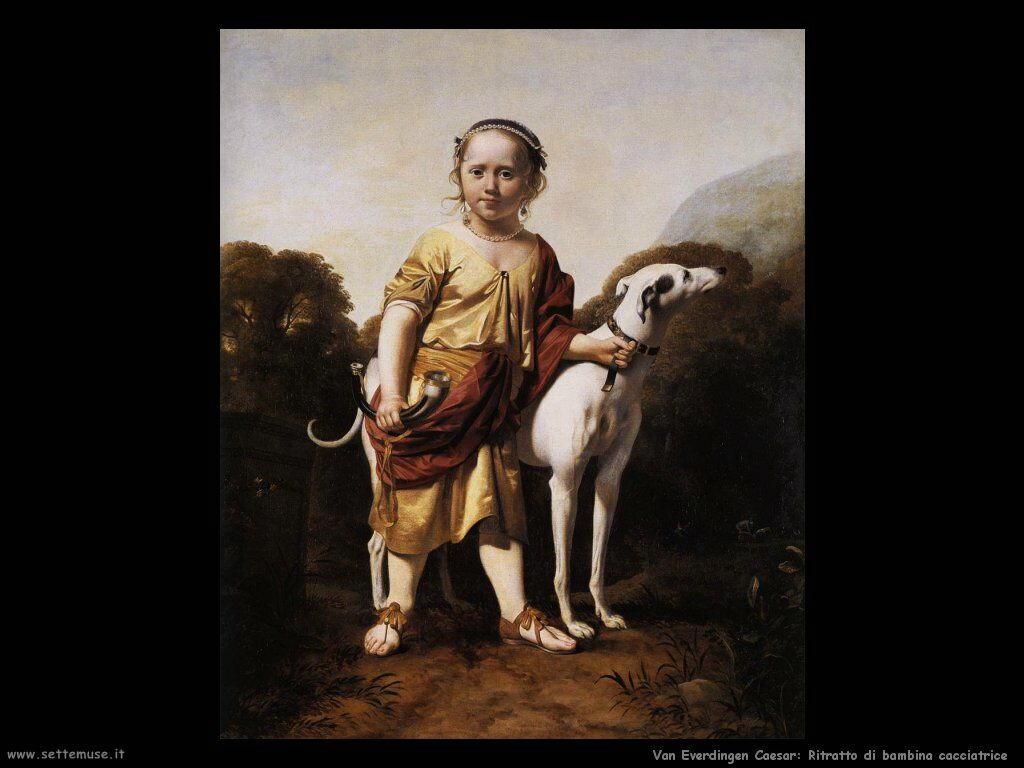 Ritratto di ragazza vestita da cacciatrice Van Everdingen Caesar