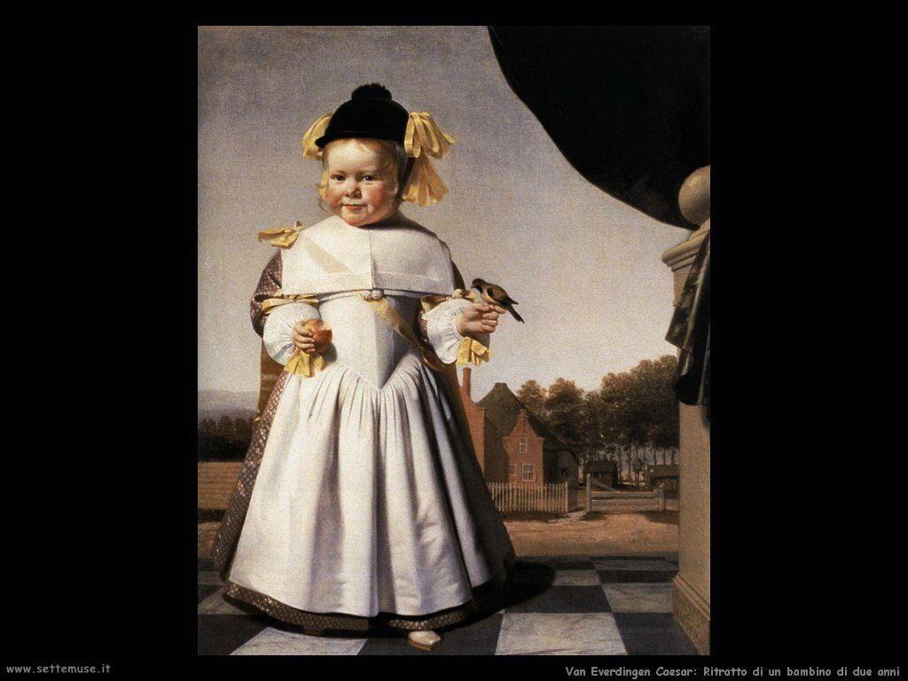 Ritratto di un bambino di due anni Van Everdingen Caesar