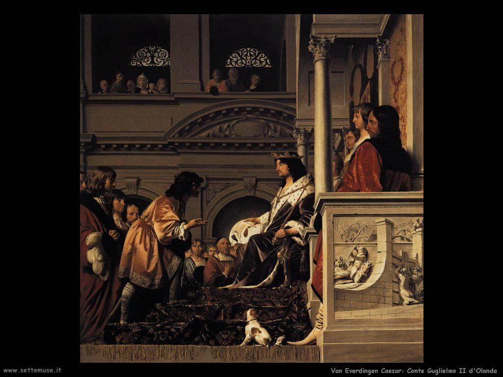 Liberazione diìel conte Willem II d'Olanda Van Everdingen Caesar