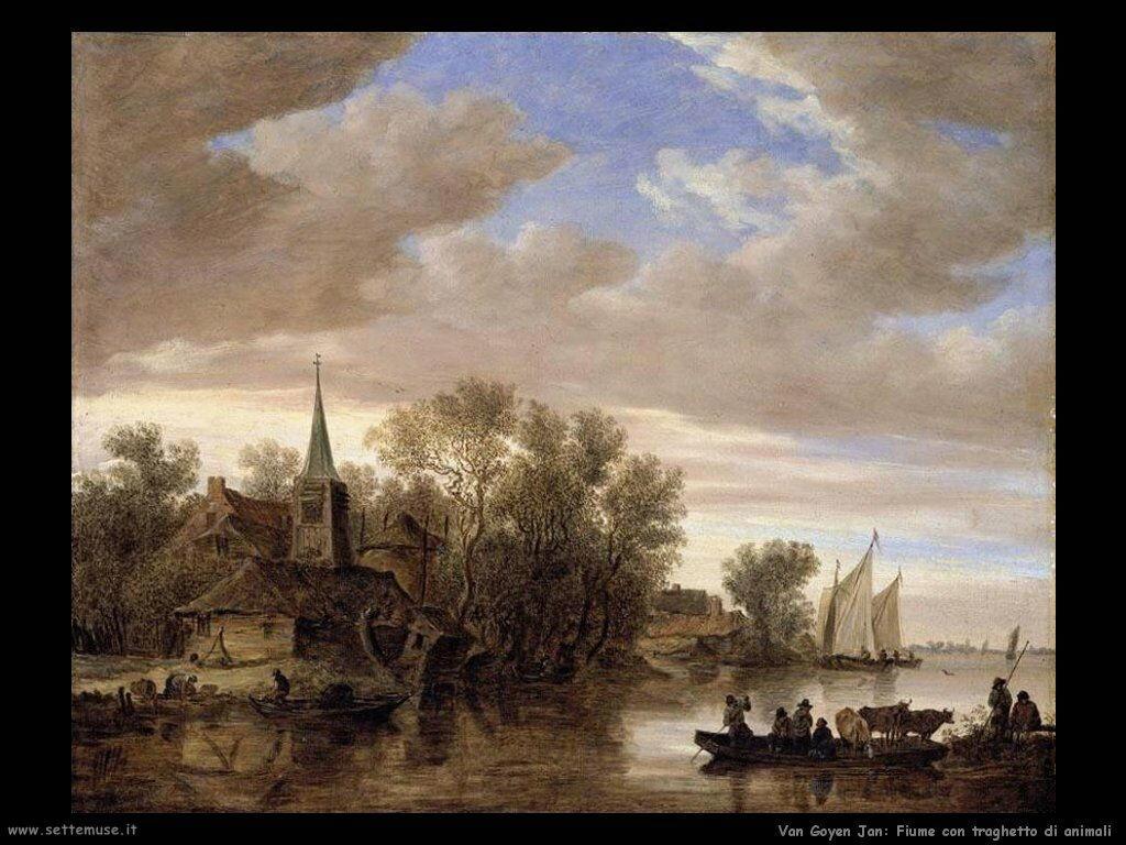 Paesaggio con traghettatore Van Goyen Jan