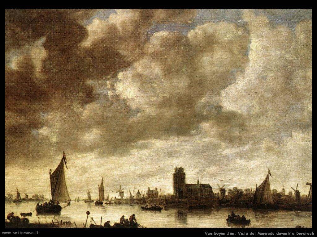 Vista del fiume prima di Dordrech Van Goyen Jan