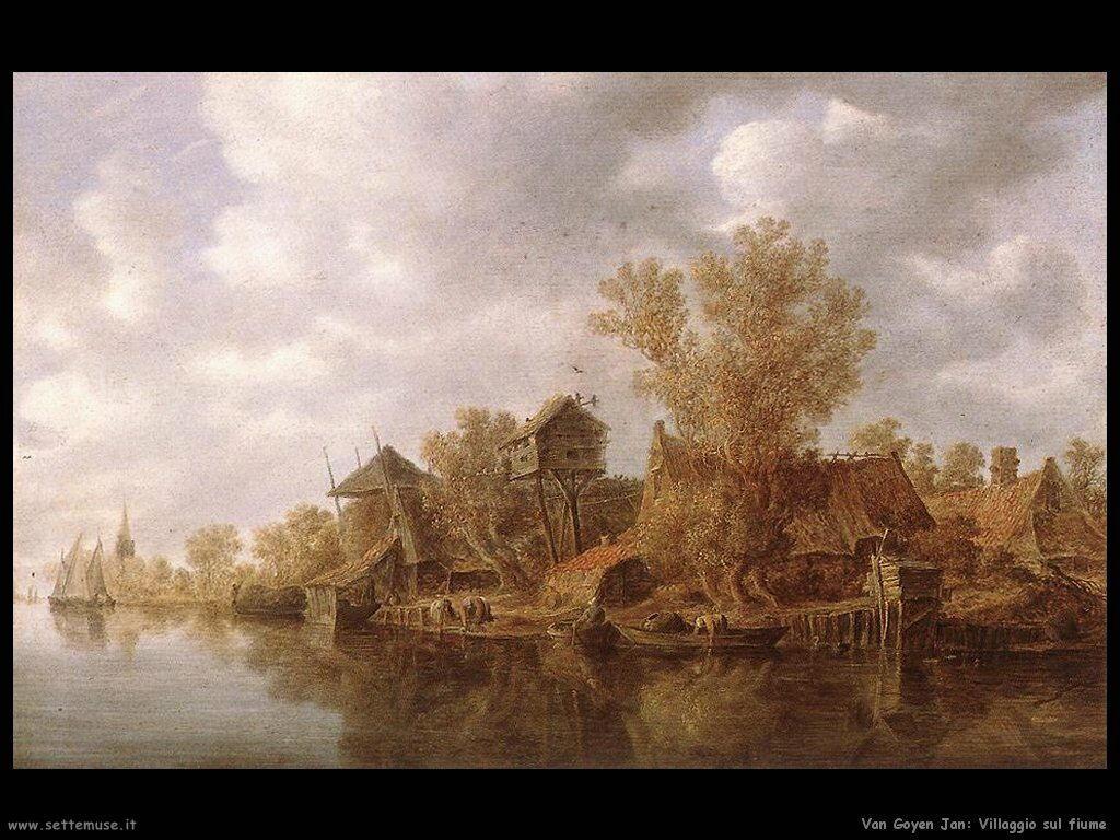 Borgo sul fiume Van Goyen Jan