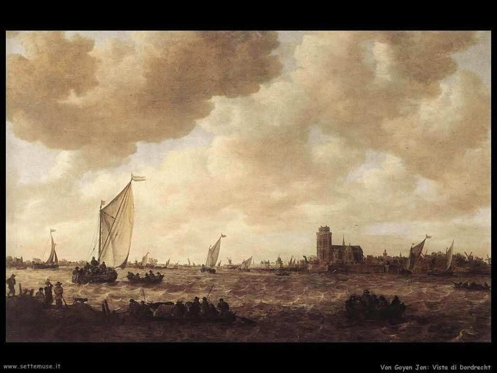 Vista di Dordrecht Van Goyen Jan