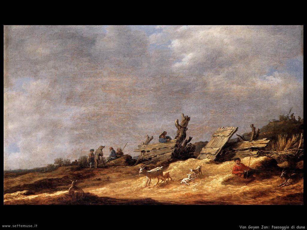 Paesaggio sulle dune Van Goyen Jan