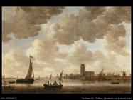 la Mosa a Dordrecht con la Cattedrale Van Goyen Jan