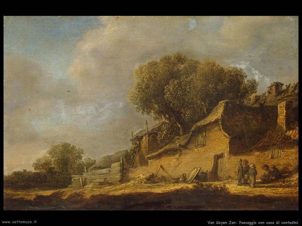Paesaggio conuna casa di contadini Van Goyen Jan