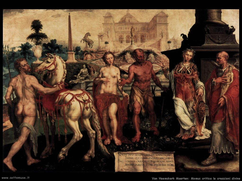 I Momus criticano il Creato Van Heemskerck Maerten