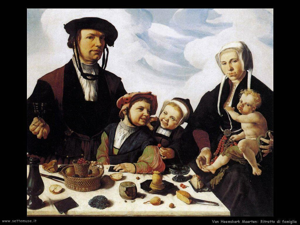 Ritratto di famiglia Van Heemskerck Maerten