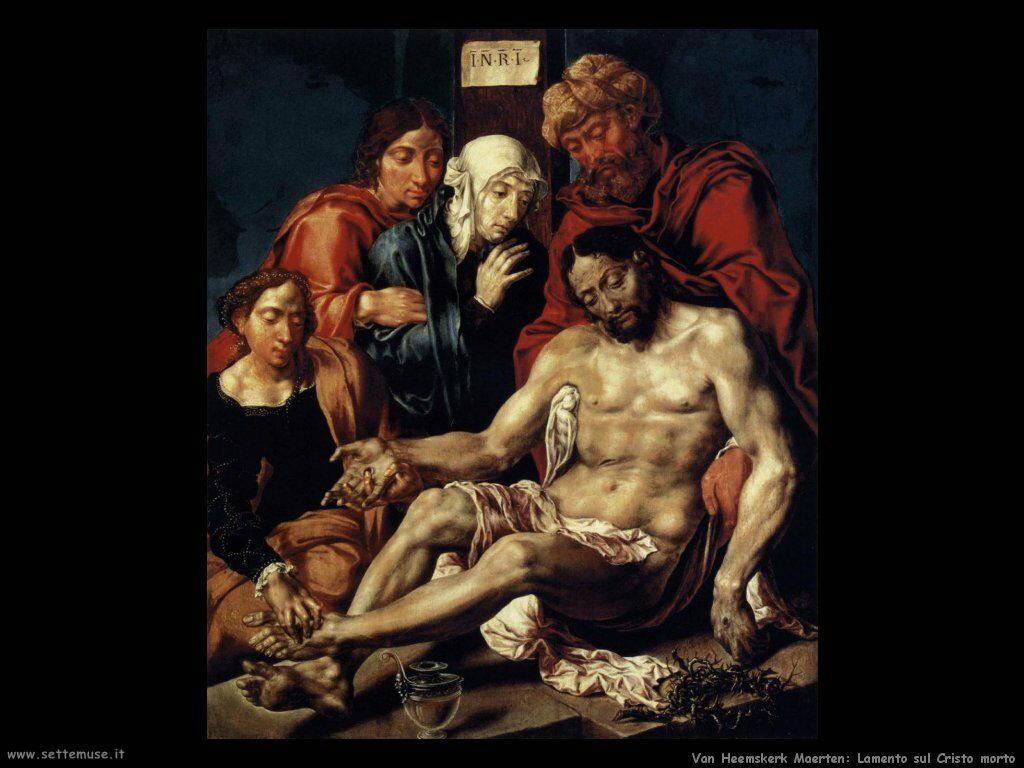 Lamentazione su Cristo Van Heemskerck Maerten