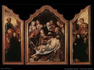 Trittico della sepoltura (aperto) Van Heemskerck Maerten