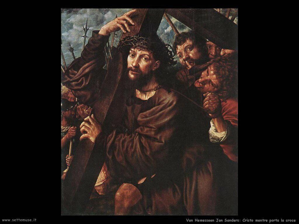 Cristo porta la croce Van Hemessen Jan Sanders