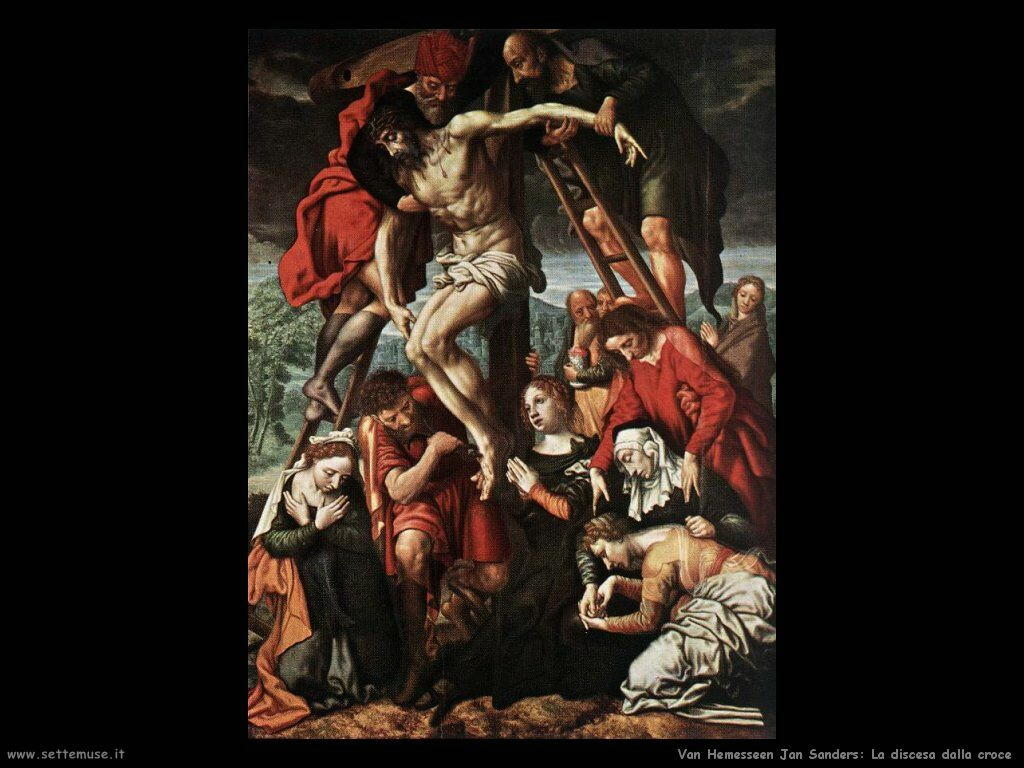 Deposizione dalla croce Van Hemessen Jan Sanders