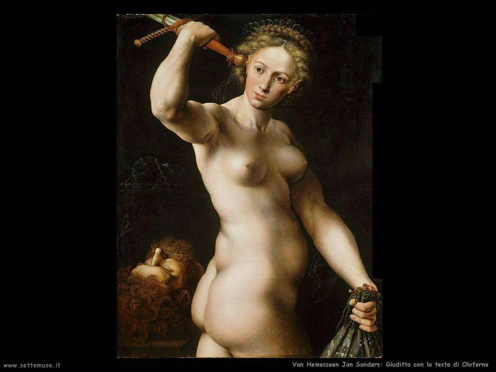 Giuditta con la testa di Oloferne (1540) Van Hemessen Jan Sanders