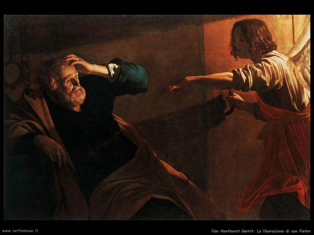 La liberazione di san Pietro Van Honthorst Gerrit