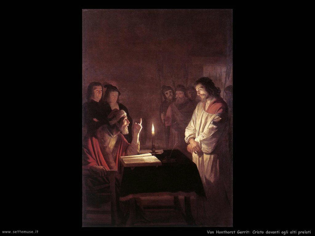 Cristo davanti al Sommo Sacerdote Van Honthorst Gerrit