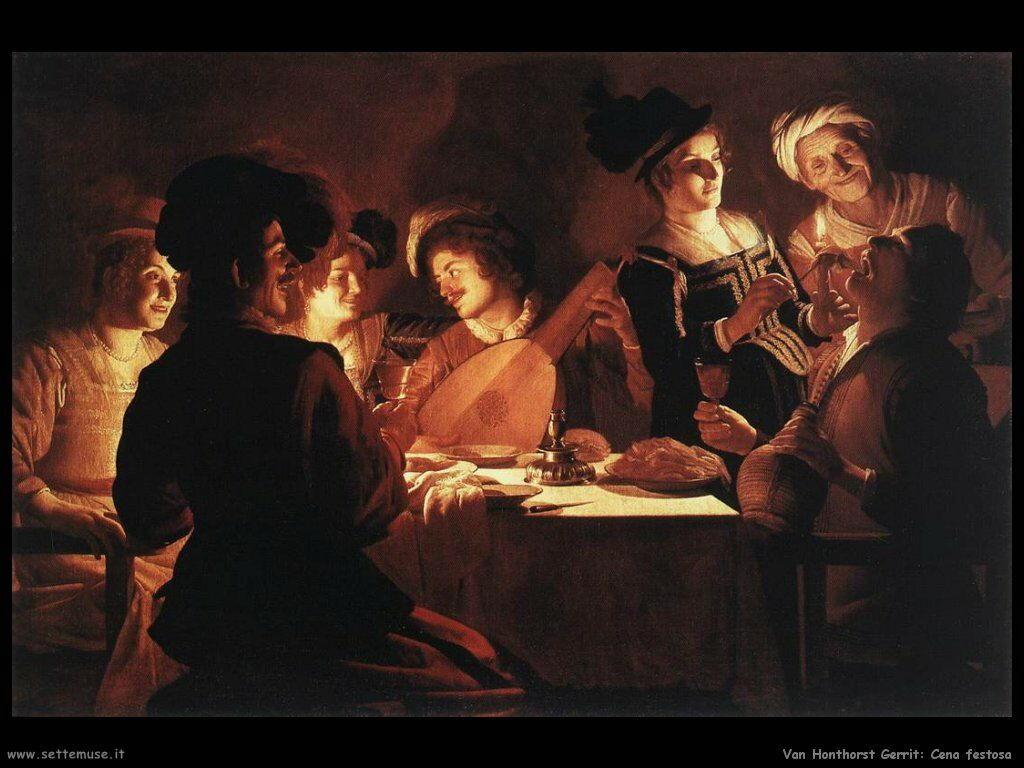 La cena della festa Van Honthorst Gerrit