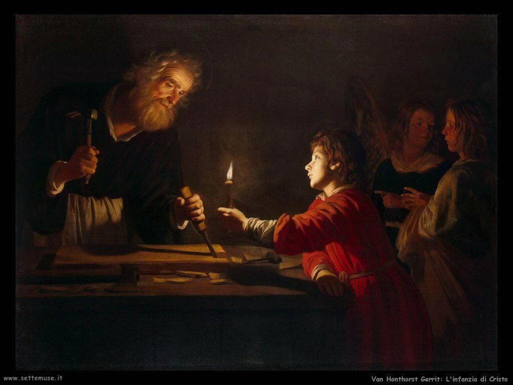L'infanzia di Cristo Van Honthorst Gerrit