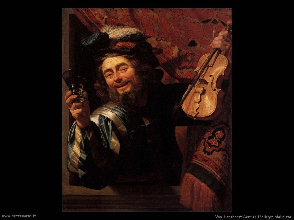L'allegro violinista Van Honthorst Gerrit
