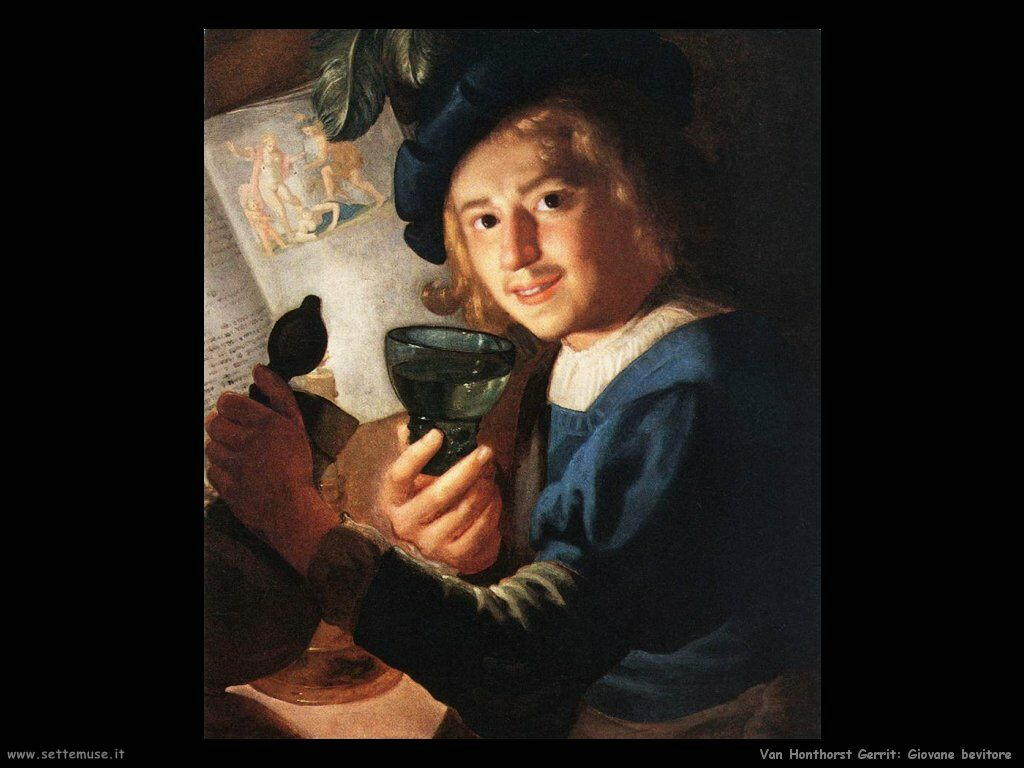 Giovane bevitore Van Honthorst Gerrit