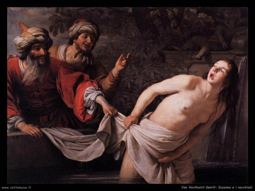Susanna e i vecchioni Van Honthorst Gerrit