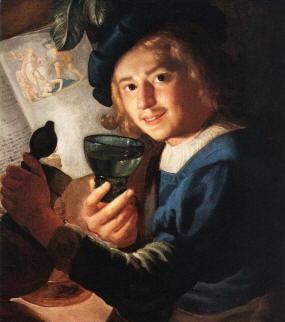 Dipinto di Gerard van Honthorst, detto anche Gerrit van Honthorst