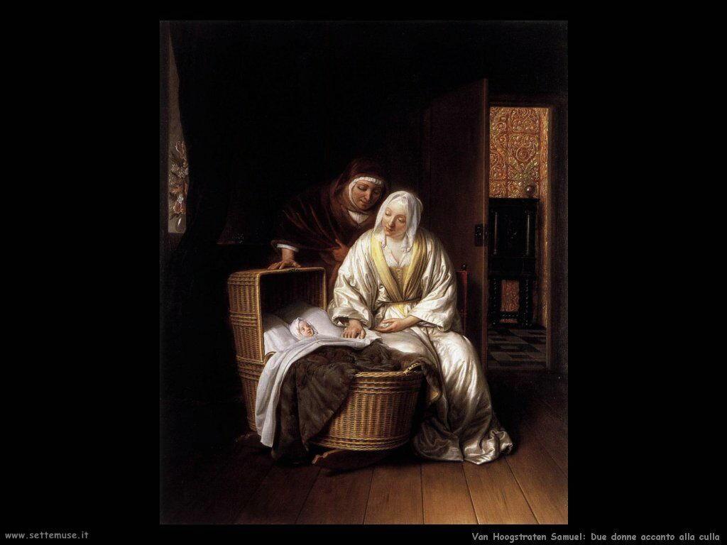 Van Hoogstraten Samuel Due donne vicino alla culla