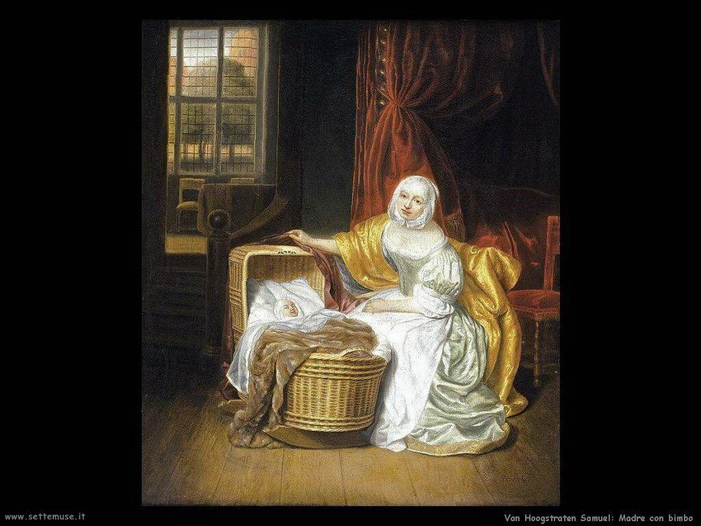 Van Hoogstraten Samuel Madre con bambino