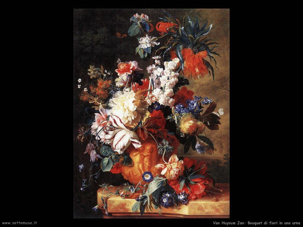 Van Huysum Jan Bouquet di fiori in urna