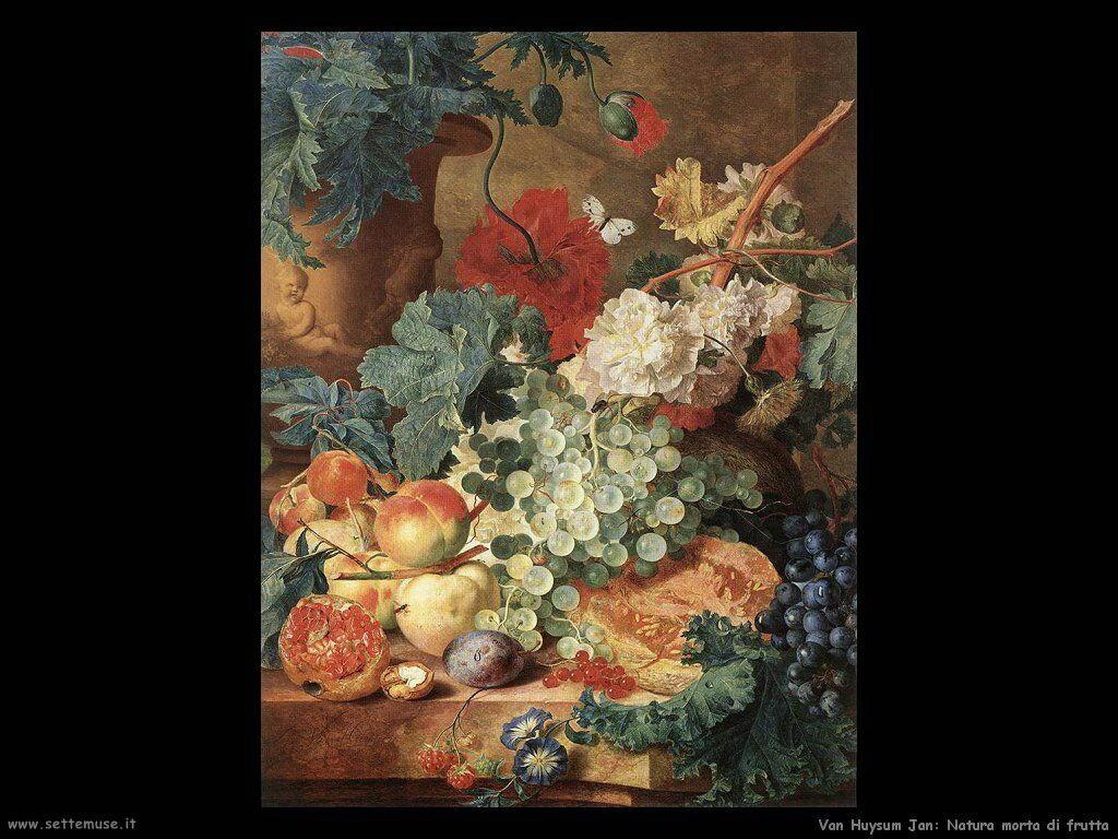 Van Huysum Jan Natura morta di frutti