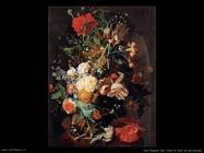 Van Huysum Jan Vaso con fiori in una nicchia
