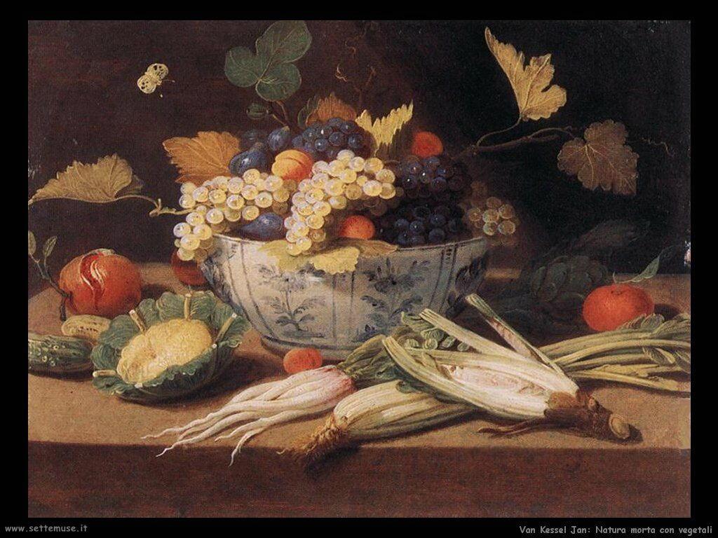Van Kessel Jan Natura morta con verdure