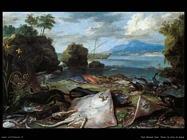 Pesci in riva al mare Van Kessel Jan