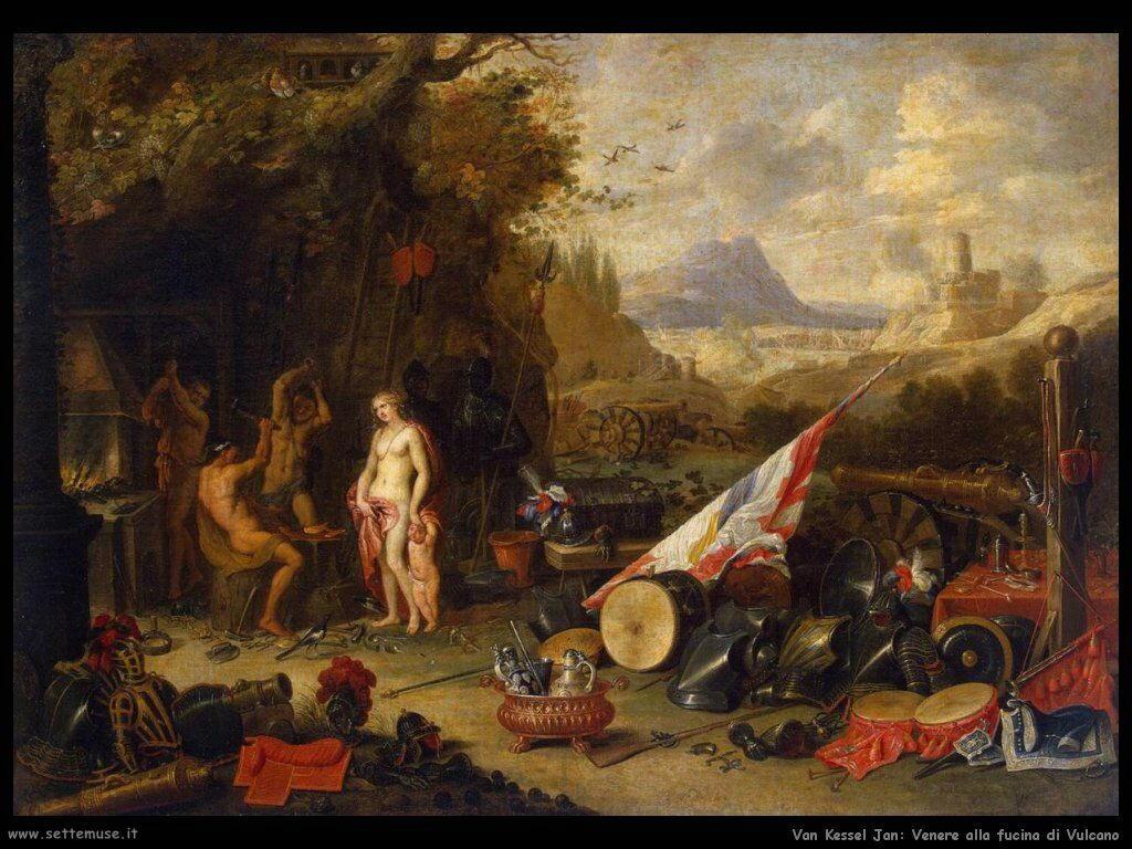 Venus nella fucina di Vulcano Van Kessel Jan