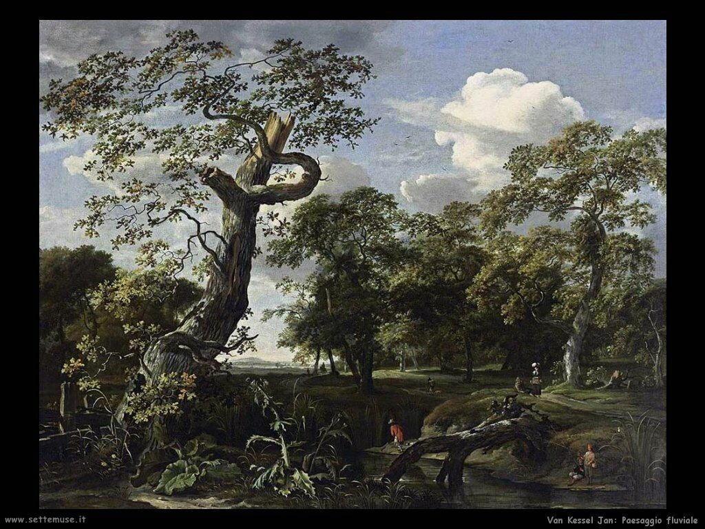 Scena sul fiume Van Kessel Jan