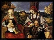 Madonna con Bambino e la Maddalena con un donatore Van Leyden Lucas