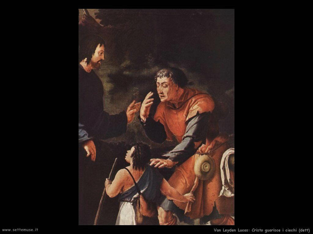 Cristo guarisce il cieco (dettaglio) Van Leyden Lucas