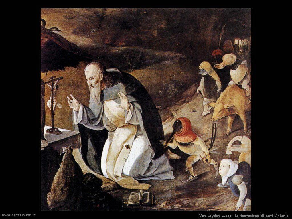 La tentazione di sant'Antonio Van Leyden Lucas