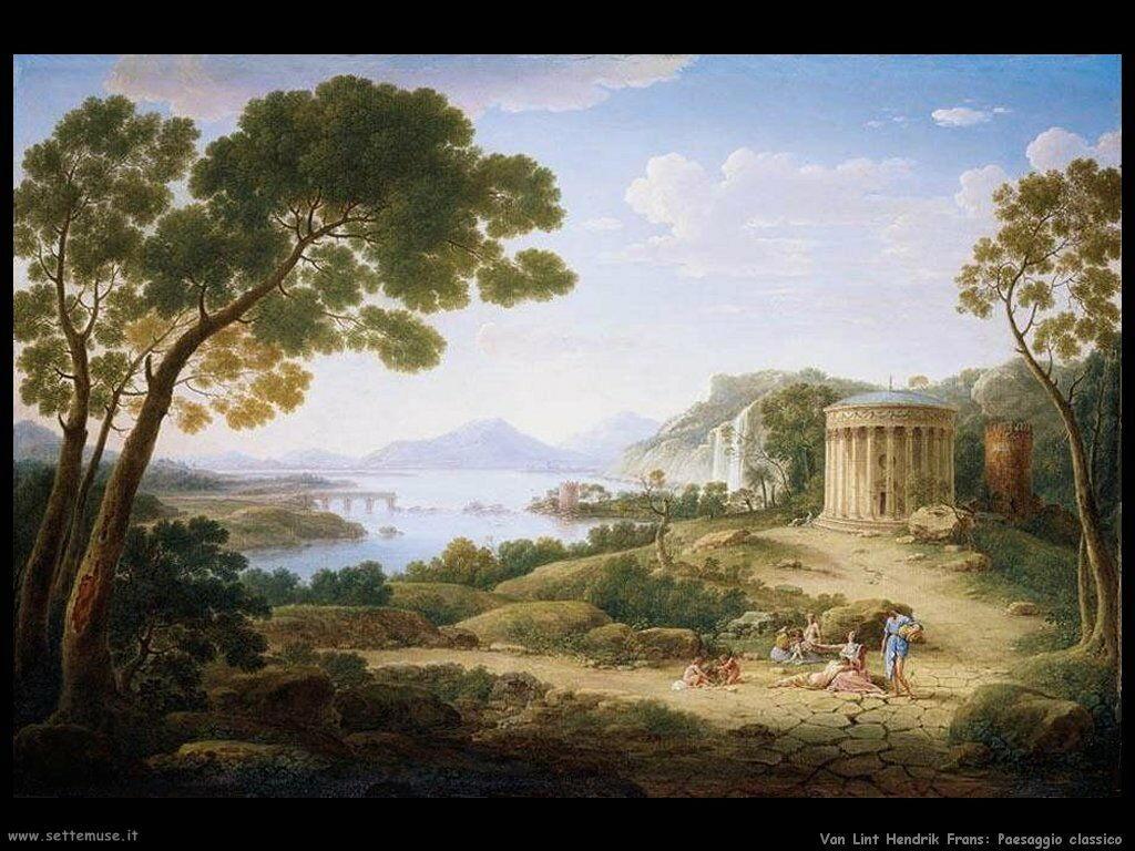 Van Lint, Hendrik Frans Paesaggio classico