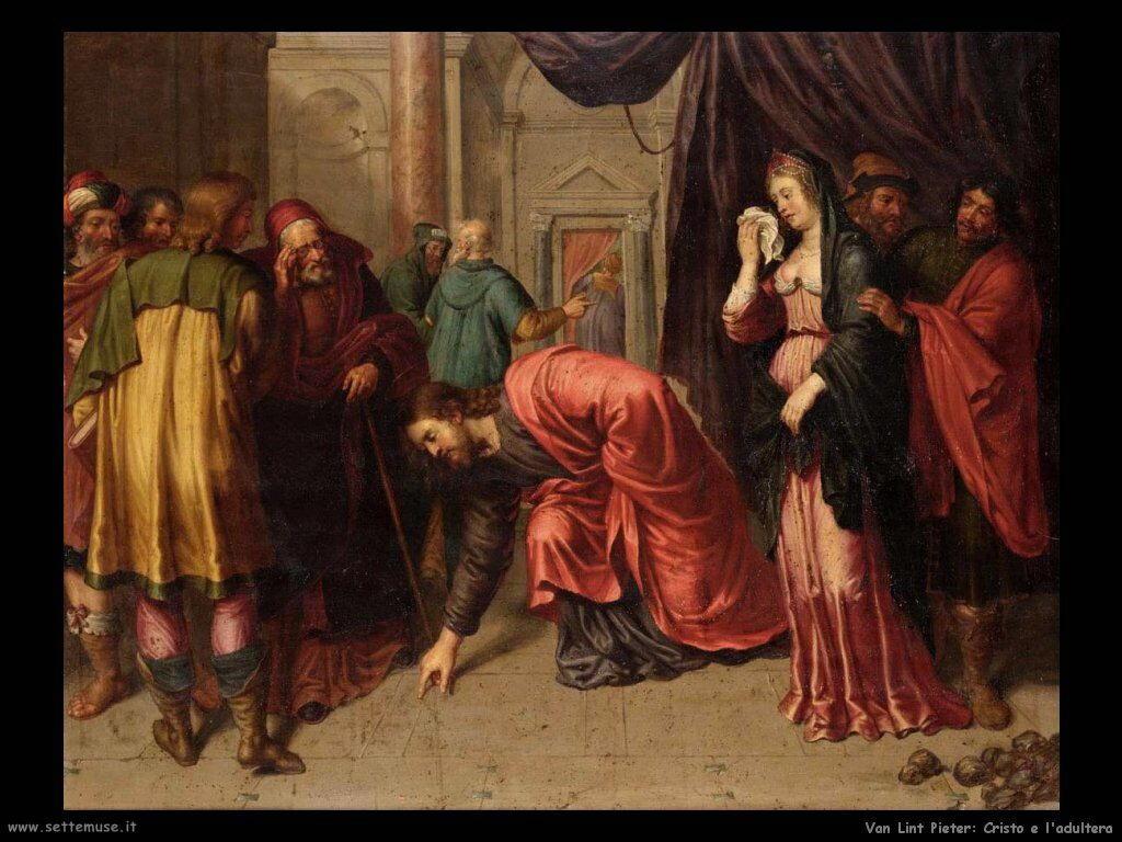 Van Lint Pieter Cristo e l'adultera